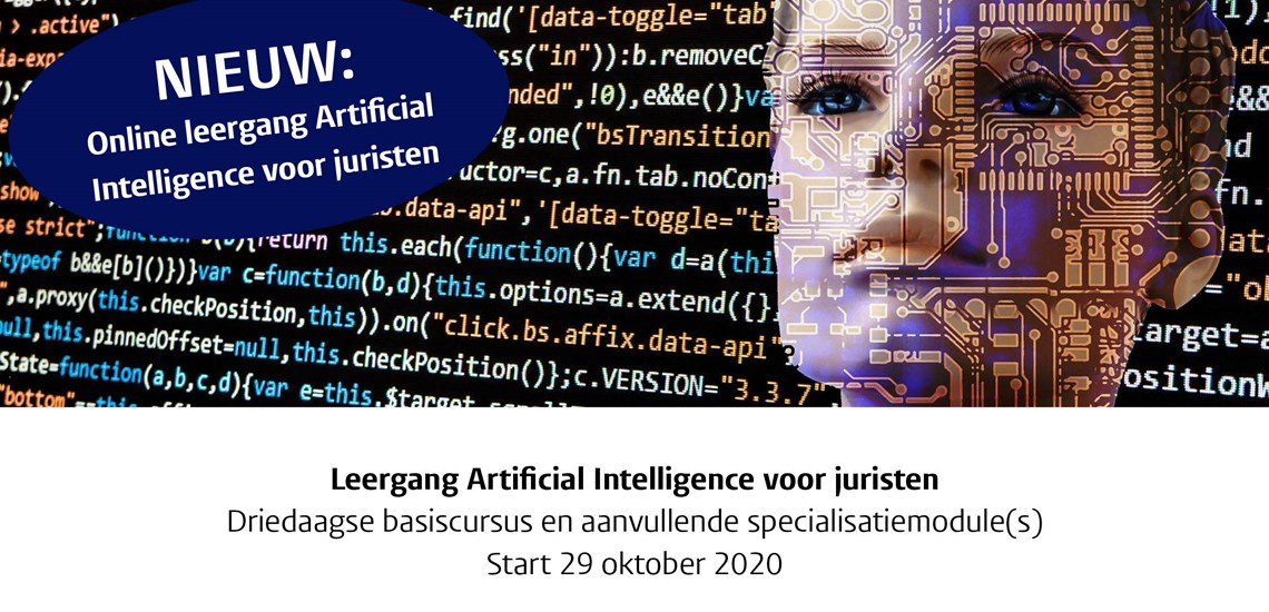 Introductie online leergang Artificial Intelligence voor juristen